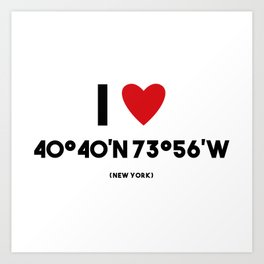 I LOVE NEW YORK Art Print
