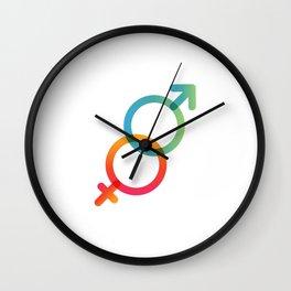 Symbols of Love #3 Wall Clock