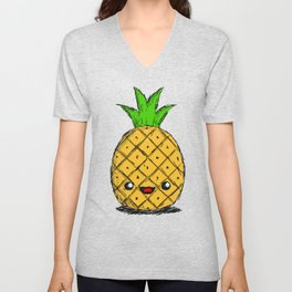 Cute Pineapple Unisex V-Neck