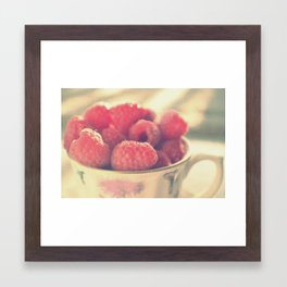 A cup of happiness Framed Art Print