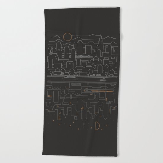 City 24 Beach Towel