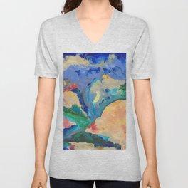 Watercolor Series (Exploding Flower) Unisex V-Neck