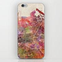 edinburgh iPhone & iPod Skins featuring Edinburgh by MapMapMaps.Watercolors