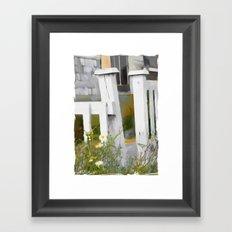 Don't Pick The Daisies !! Framed Art Print