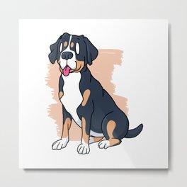 SWISS MOUNTAIN DOG Metal Print