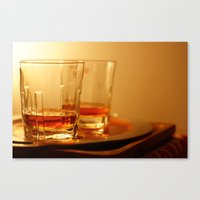 whiskey Canvas Prints featuring Whiskey by Vishal Wadhwani