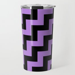 Black and Lavender Violet Steps RTL Travel Mug