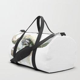 Buffalo, Bison, Watercolor Handmade Painting Duffle Bag