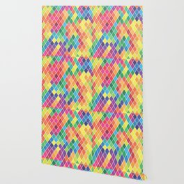 Watercolor Geometric Pattern II Wallpaper