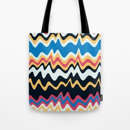 Abstract Colorful Waves Art Pattern Tote Bag
