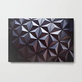 Disney Epcot Texture Pattern Awesome Metal Print