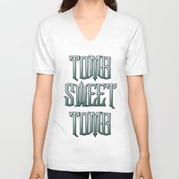 haunted mansion V-neck T-shirts featuring Haunted Mansion - Tomb Sweet Tomb by Brianna