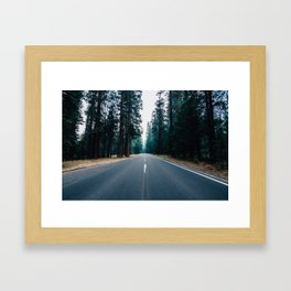 The Road Knows Framed Art Print