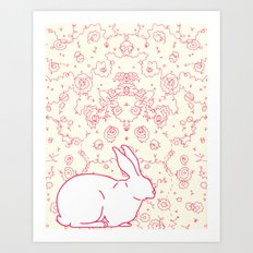Rabbit Collaboration Art Print
