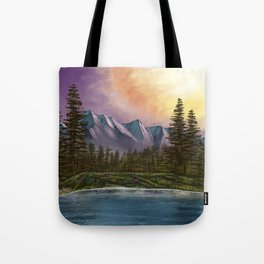 Spring Paint Along with Bob Ross on Netflix ep.1 Tote Bag