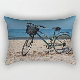 Bike on Barefoot Beach II Rectangular Pillow