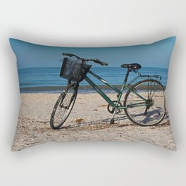 Bike on Barefoot Beach II Rectangular Pillow