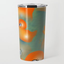 Orange Rubber Duckies Travel Mug