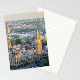 View of Big Ben and Houses of Parliament from London Eye | Europe UK City Urban Landscape Photography Stationery Cards