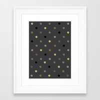 polka dots Framed Art Prints featuring Polka Dots by Madison Hartquist