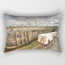Bude Canal Lock Rectangular Pillow