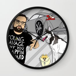 The Z LIFE, 21 Savage, Dog Lover, 370 Z Illustration Wall Clock
