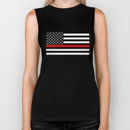 Thin Red Line American Flag Biker Tank