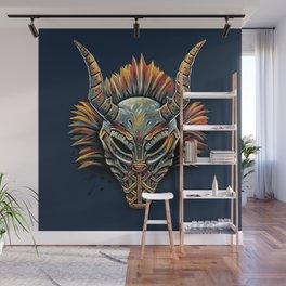 Killmonger Tribal Mask Wall Mural