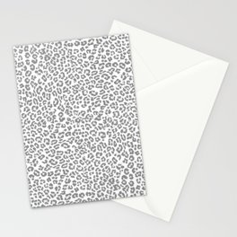 Leopard Dream Grey Stationery Cards