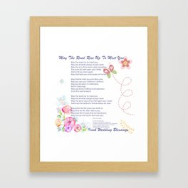 The Irish Wedding Blessing Framed Art Print