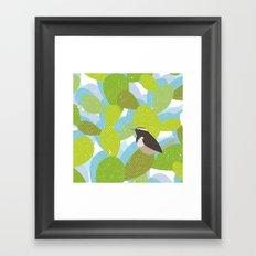 Cactus and Wren Framed Art Print
