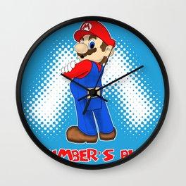 Plumber's Butt Wall Clock