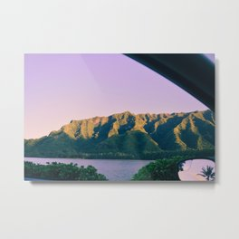 Hawaii Out the Window Metal Print