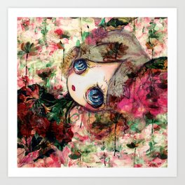 Creature in Bloom Art Print