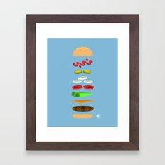 Chz Brgr Framed Art Print