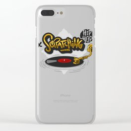 Scratching Hip Hop Clear iPhone Case