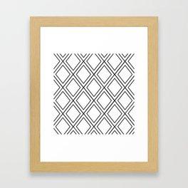 ᚖ NOIR SERIES ᚖ  - Ethnic Chic Pattern Framed Art Print