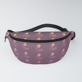Hand-drawn Metallic Reading Girl Fanny Pack