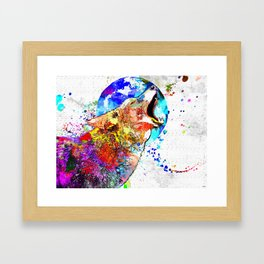 Coyote Grunge Framed Art Print