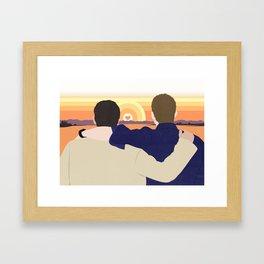 True Love Sunset Framed Art Print