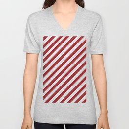 Candy Cane - Christmas Illustration Unisex V-Neck