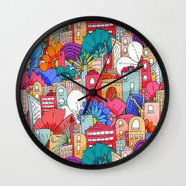 Spring city Wall Clock