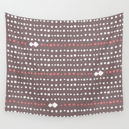 Desert Dots - Brown Wall Tapestry