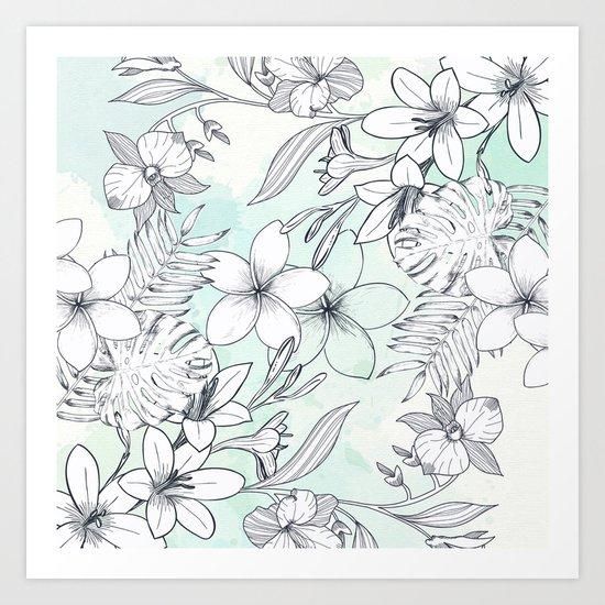 Floral Sketches Art Print