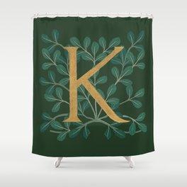 Forest Letter K 2018 Shower Curtain