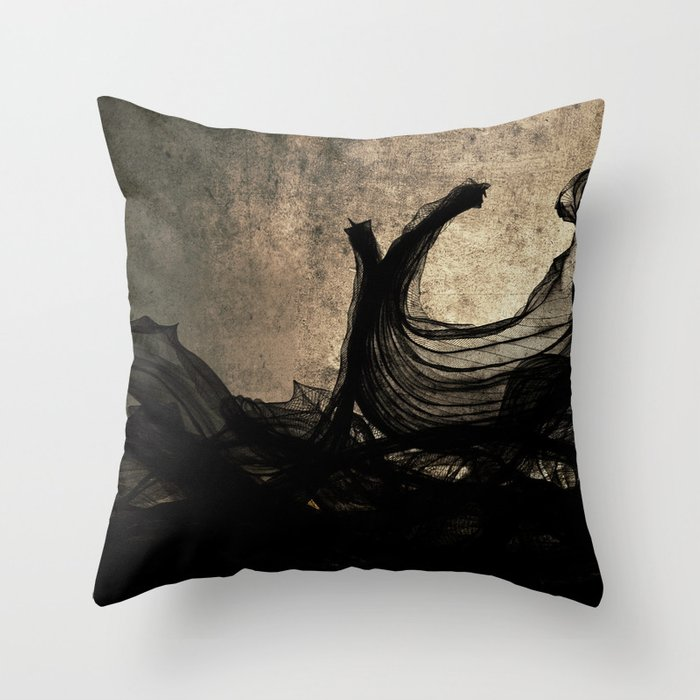 An Ocean of Dischord Throw Pillow