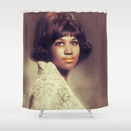 Aretha Franklin, Music Legend Shower Curtain