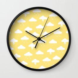 Precipitation Yellow Wall Clock