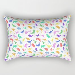Fun Dinosaur Pattern Rectangular Pillow