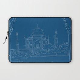 Blue Taj Mahal Drawing Laptop Sleeve